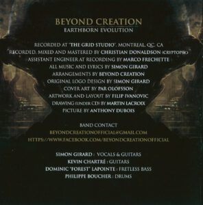 Beyond Creation - Earthborn Evolution (Russia) - Inside