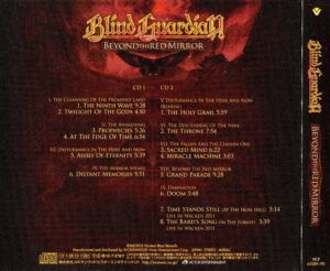 Blind Guardian - Beyond The Red Mirror (Japan) - Back