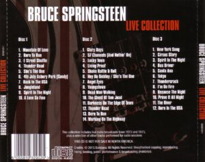 Bruce Springsteen - Live Collection - Back