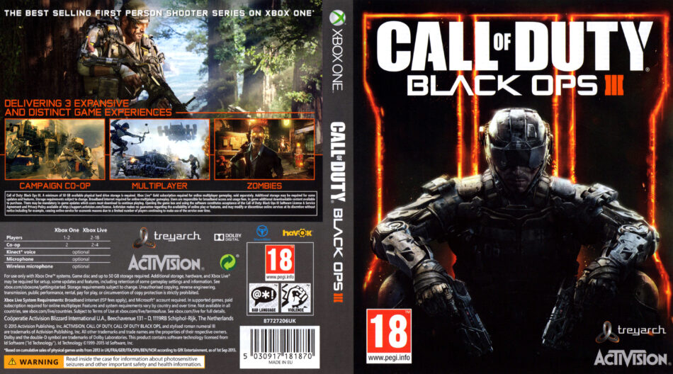 Call Of Duty Black Ops 3 Xbox One Dvd Cover 2015 Pal