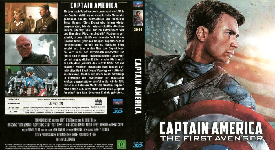 Captain America The First Avenger Blu Ray German 2011