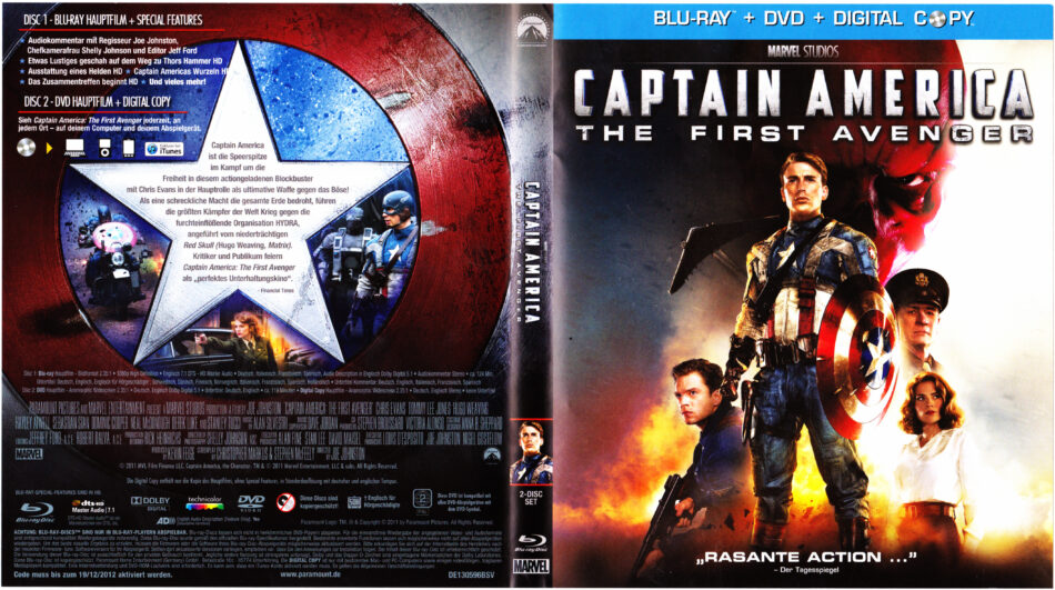 Captain America The First Avenger Blu Ray Dvd Covers 2011 German