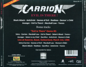 Carrion - Evil Is There! - Back