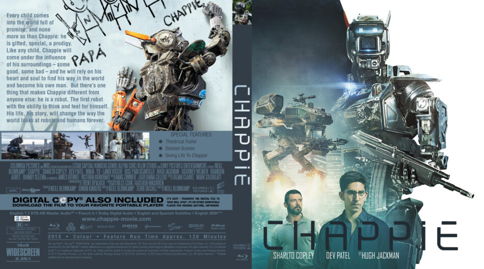 chappie blu-ray dvd cover