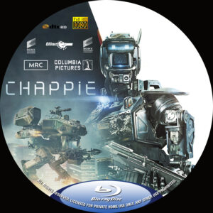 chappie blu-ray dvd label