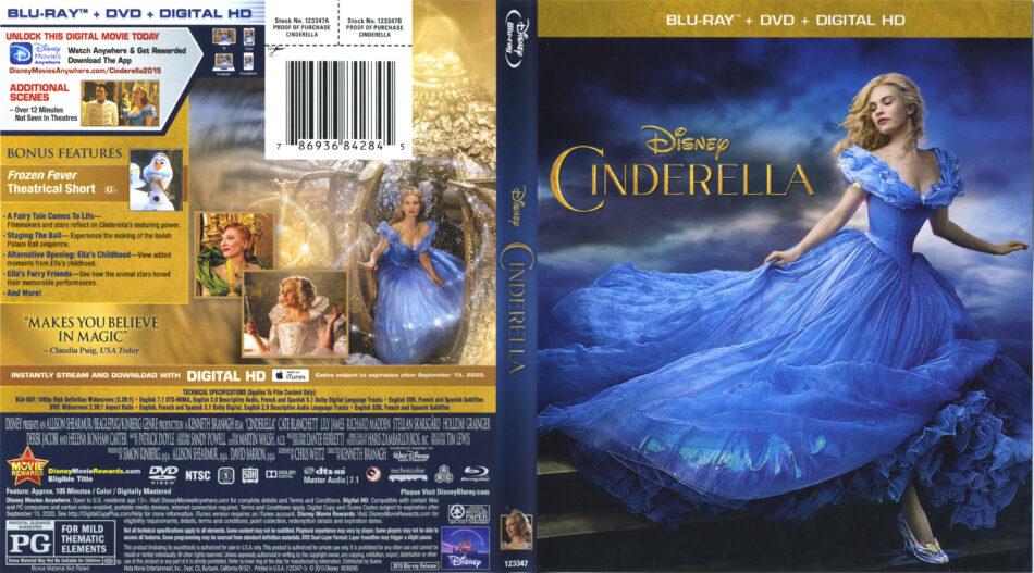 Cinderella 2015 blu-ray dvd cover