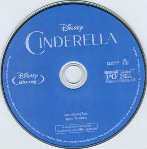 Cinderella 2015 blu-ray dvd label