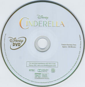 Cinderella 2015 dvd label