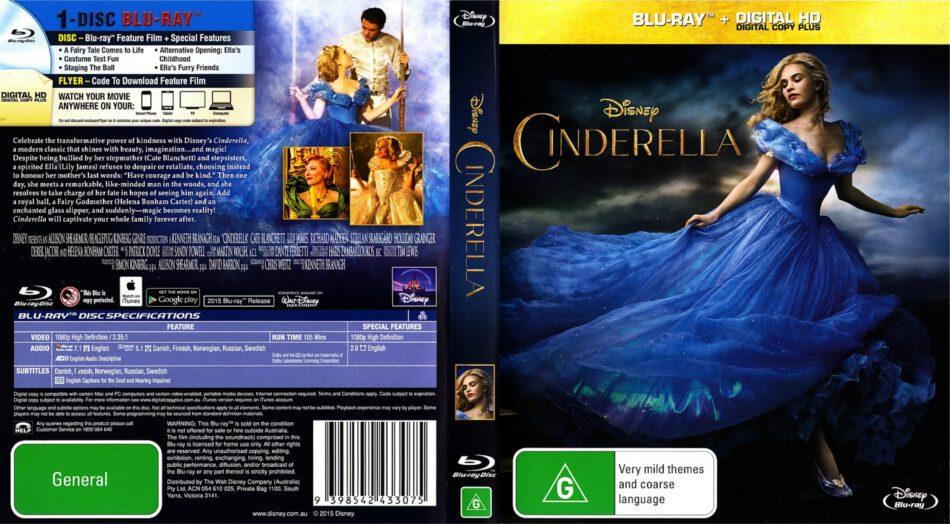 Cinderella blu-ray dvd cover