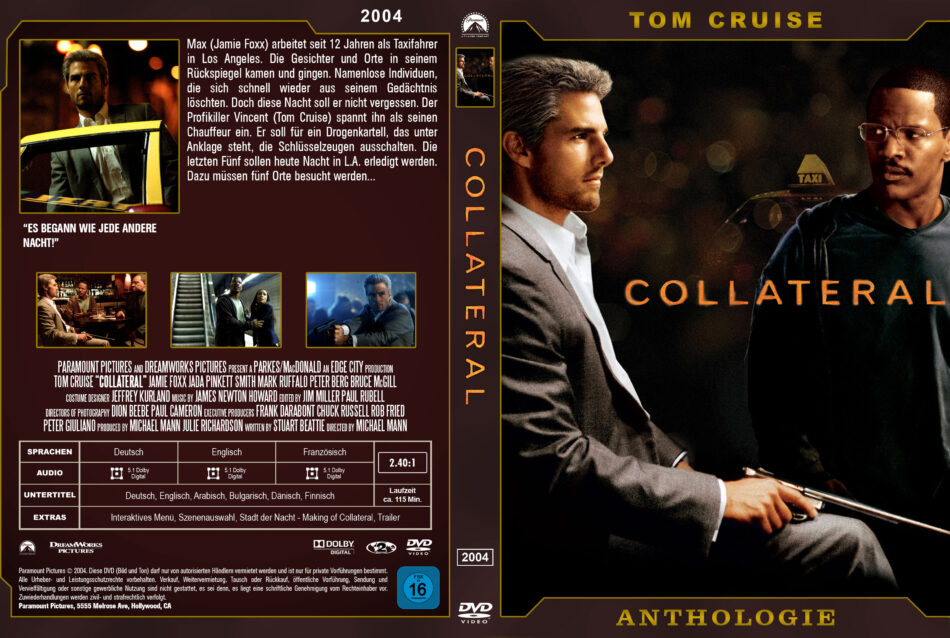 Collateral Dvd Cover 2004 Custom German