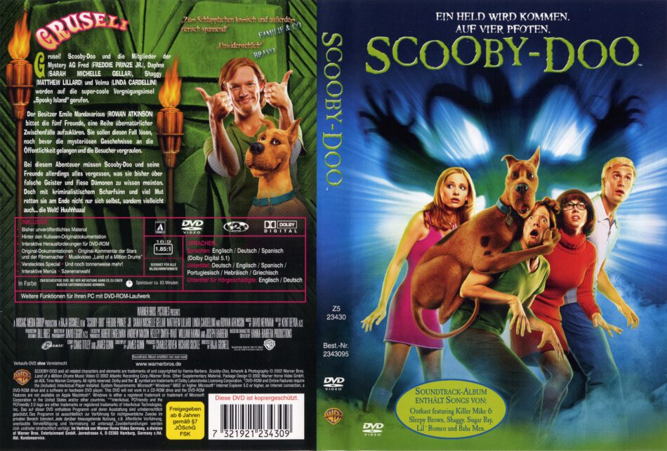Scooby Doo Dvd Cover Label 2002 R2 German