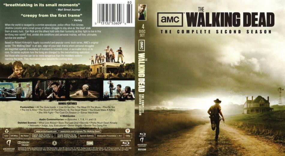 The Walking Dead Season 2 Blu Ray Dvd Cover Labels 2011