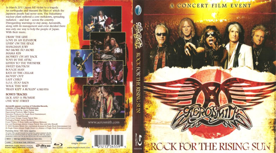 Rock For The Rising Sun blu-ray dvd cover