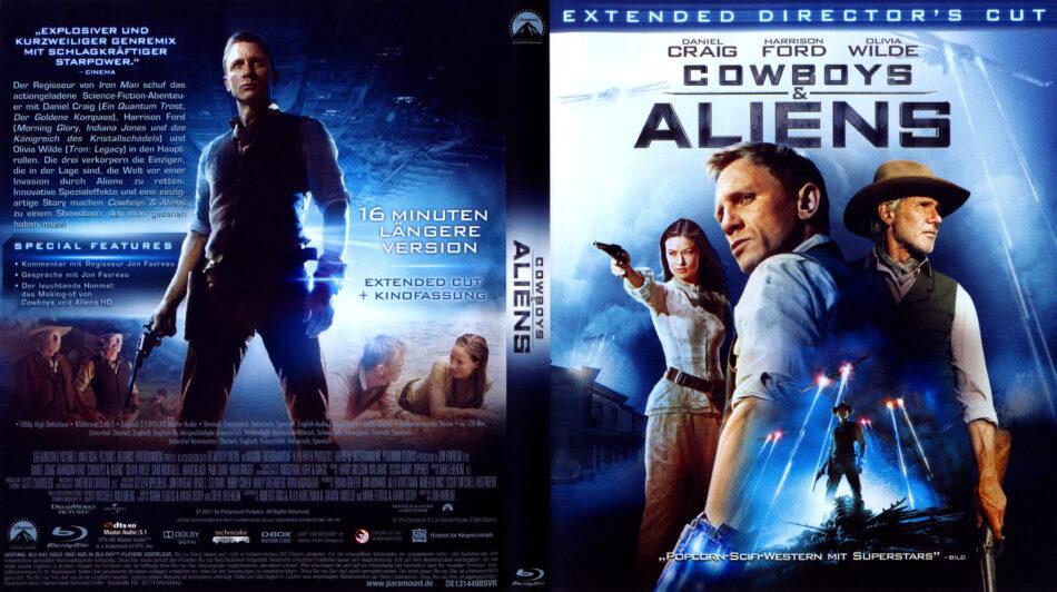 Cowboys Aliens Blu Ray Dvd Cover 2011 R2 German