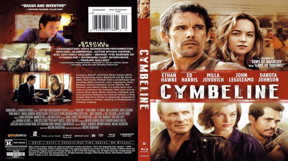 Cymbeline (Blu-Ray) dvd cover