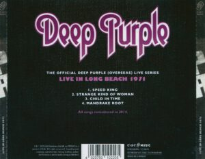 Deep Purple - Long Beach 1971 - Back