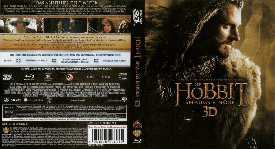 Der Hobbit Smaugs Einöde 3d Blu Ray German 2014