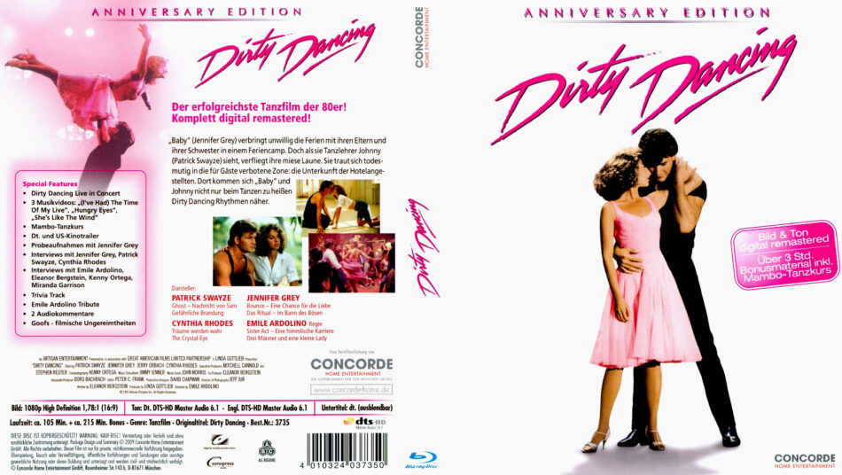 Dirty Dancing Blu Ray Dvd Cover 1987 German