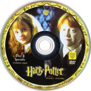 harry potter und der stein der weisen dvd cover  label 2001 r2 german