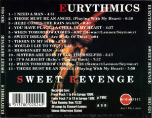 Eurythmics - Sweet Revenge (1992) - Back