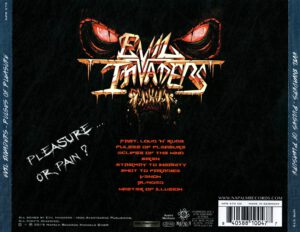Evil Invaders - Pulses Of Pleasure - Back