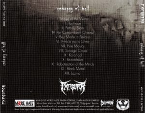 Exegutor - Embassy of Hell - Back