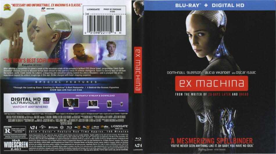 ex machina blu-ray dvd cover