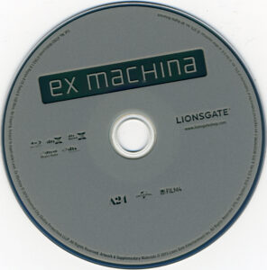 ex machina blu-ray dvd label