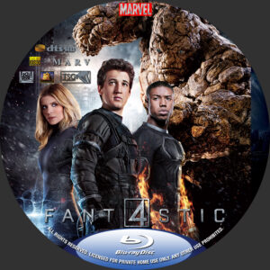 fantastic four blu-ray dvd label