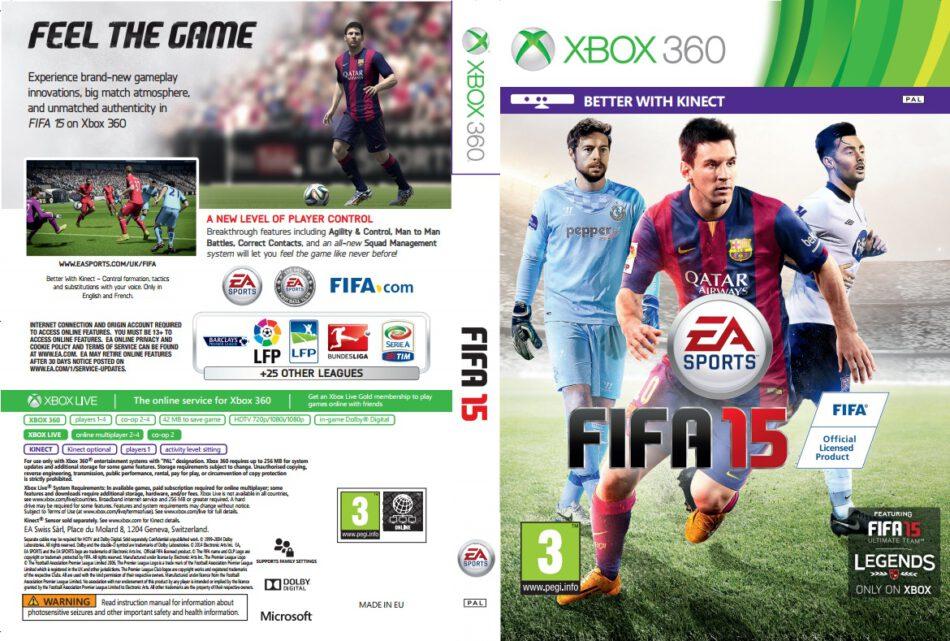 FIFA 15 dvd cover (2014) XBOX360 USA