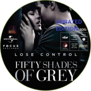 FIFTY SHADES UNRATED dvd label