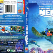 Finding Nemo (2003) R1 Blu-Ray DVD Cover & Label