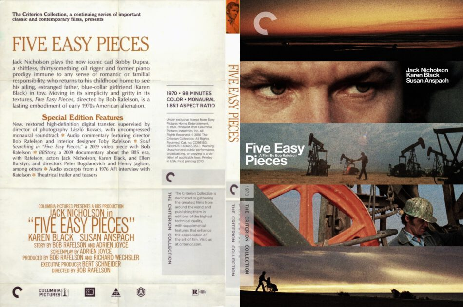 five easy pieces dvd cover