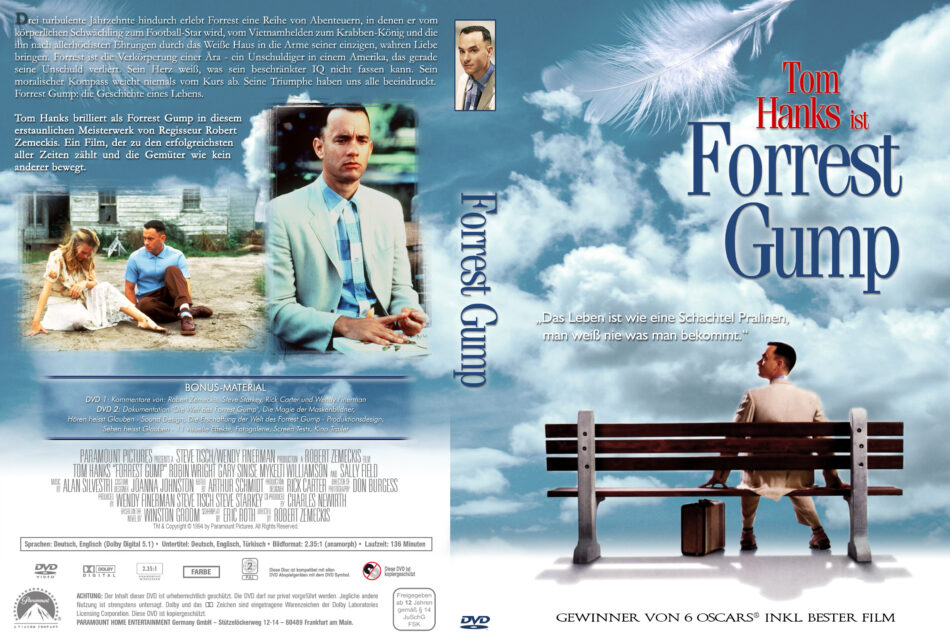 Forrest Gump Dvd Covers 1994 R2 German