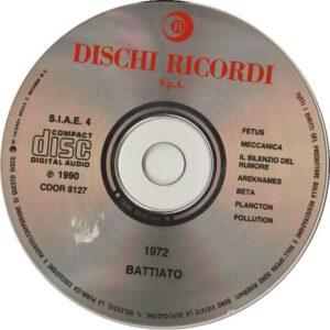 Franco Battiato - 1972 (taken from Fetus & Pollution) - CD