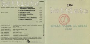 Franco Battiato - 1974 (taken from Sulle Corde Di Aries & Clic) - Booklet (1-2)