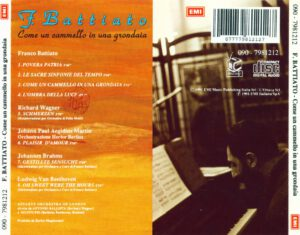 Franco Battiato - Come Un Cammello In Una Grondaia - Back