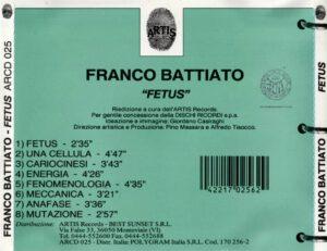 Franco Battiato - Fetus - Back