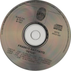 Franco Battiato - Fetus - CD