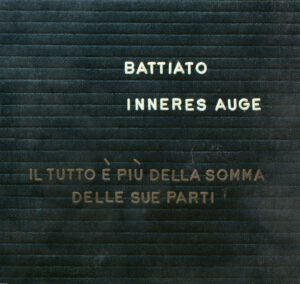 Franco Battiato - Inneres Auge - 1Front