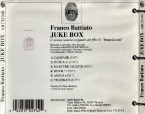 Franco Battiato - Juke Box - Back
