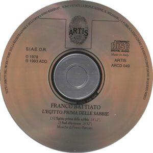 Franco Battiato - L'Egitto Prima Delle Sabbie - CD