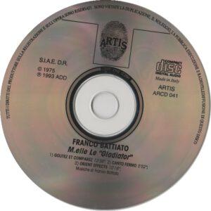 Franco Battiato - M.elle Le Gladiator - CD
