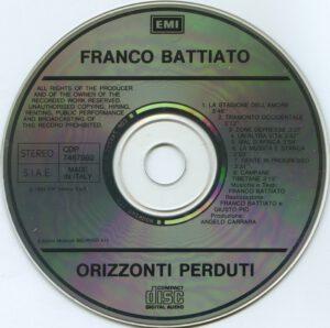 Franco Battiato - Orizzonti Perduti - CD