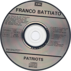 Franco Battiato - Patriots - CD