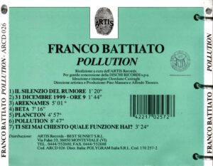 Franco Battiato - Pollution - Back