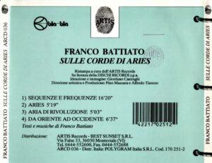 Franco Battiato - Sulle Corde Di Aries - Back