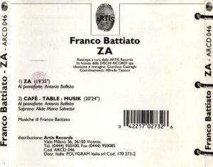 Franco Battiato - ZA - Back