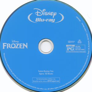 frozen blu-ray dvd label