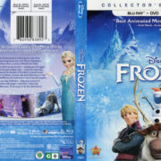 Frozen (2013) R1 Blu-Ray DVD Cover & Label